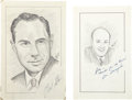 "Baseball Collectibles:Others, Bill Stern and Joe Garagiola Signed Original Artwork ""RaittCollection""...."