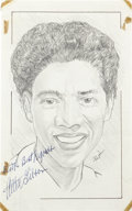 "Miscellaneous Collectibles:General, Althea Gibson Signed Original Artwork ""Raitt Collection""...."