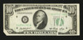 Error Notes:Foldovers, Fr. 2011-D $10 1950A Federal Reserve Note. About Uncirculated.. ...