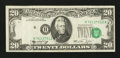 Error Notes:Shifted Third Printing, Fr. 2071-H $20 1974 Federal Reserve Note. Very Fine.. ...