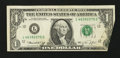 Error Notes:Foldovers, Fr. 1908-L $1 1974 Federal Reserve Note. Very Fine+.. ...
