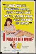 """Movie Posters:Exploitation, I Passed for White (Allied Artists, 1960). One Sheet (27"""" X 41"""").Exploitation.. ..."""