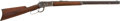 "Military & Patriotic:Indian Wars, Winchester Model 1892 Lever Action Rifle, First Year Manufacture.Cal. .32 W.C.F. Serial Number 22807. 24"" Octagonal Barrel...."