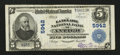National Bank Notes:Wisconsin, Antigo, WI - $5 1902 Plain Back Fr. 607 The Langlade NB Ch. # 5942. ...