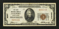 National Bank Notes:Pennsylvania, Coalport, PA - $20 1929 Ty. 1 The First NB Ch. # 6887. ...