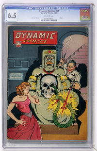 Dynamic Comics #13 (Chesler, 1945) CGC FN+ 6.5 Off-white pages