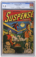 Golden Age (1938-1955):Horror, Suspense Comics #1 (Continental Magazines, 1943) CGC FR/GD 1.5Brittle pages....