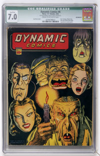Dynamic Comics #8 (Chesler, 1944) CGC Qualified FN/VF 7.0 Cream to off-white pages
