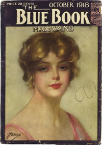 """Blue Book V27#6 """"People That Time Forgot"""" (McCall, 1918) Condition: VG"""
