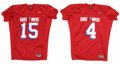 Football Collectibles:Uniforms, 2005 East-West Shrine Game Game Worn Jerseys Lot of 2. The annual college All-Star game played in January called the East-W...
