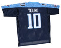 Football Collectibles:Balls, Vince Young Signed Tennessee Titans Jersey. The undisputed star of the 2006 Rose Bowl and starting quarterback for the Tenn...