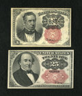 Fractional Currency:Fifth Issue, Two Short Key Denominations.... (Total: 2 notes)