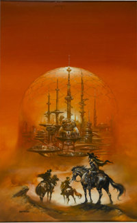 "Boris Vallejo - ""A Hostage For Hinterlands"" Paperback Cover Painting Original Art (Del Rey/Ballantine Books, 1..."