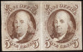 Stamps, 5¢ Brown (1),...