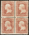 Stamps, 3¢ Rose (88),...