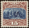 Stamps, 15¢ Brown & Blue (129),...