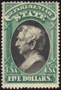 Stamps, $5 Green & Black (O69),...
