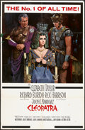 "Movie Posters:Historical Drama, Cleopatra (20th Century Fox, 1963). One Sheet (27"" X 41.5"")Roadshow Style. Historical Drama.. ..."