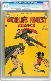 World's Finest Comics #41 (DC, 1949) CGC VF 8.0 Off-white to white pages