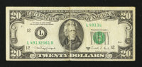 Fr. 2076-L $20 1988A Federal Reserve Note. Very Fine