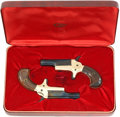 Military & Patriotic:Indian Wars, Pair of Matched Colt Derringers, Cased, in the Original Box andWith the Original Paperwork, Circa 1959. Cal. .22 Short. S...