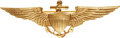Military & Patriotic:WWI, Early Naval Aviator 10K Gold Wing....
