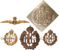 Military & Patriotic:WWI, WWI Royal Flying Corps Insignia Group.... (Total: 5 Items)