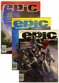 Magazines:Science-Fiction, Epic Illustrated Magazine Group (Marvel, 1980-86) Condition:Average VF.... (Total: 32 Comic Books)