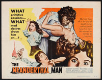 "The Neanderthal Man (United Artists, 1953). Half Sheet (22"" X 28""). Horror"