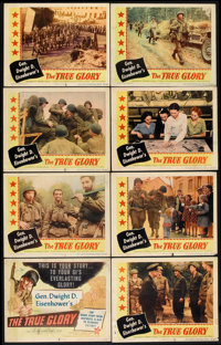 "The True Glory (Columbia, 1945). Lobby Card Set of 8 (11"" X 14""). Documentary. ... (Total: 8 Items)"