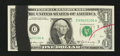Error Notes:Ink Smears, Fr. 1905-C $1 1969B Federal Reserve Note. Gem Crisp Uncirculated.....