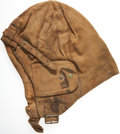 Military & Patriotic:WWI, Royal Flying Corps Tan Twill Cloth Flying Helmet....