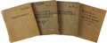 Military & Patriotic:WWI, U.S. Army Air Service Pilot's Log Books.... (Total: 4 Items)