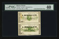 Obsoletes By State:Illinois, Peoria, IL- Cutler & Lindsay 5¢-10¢ Nov. 1, 1862 Uncut Pair. ...