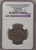 (1694) TOKEN London Elephant Token, Thick Planchet--Planchet Flaw--NGC Details. XF. Hodder 2-B, W-12040, R.2....(PCGS# 5...