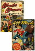 Golden Age (1938-1955):Superhero, Golden Age DC Superhero Group (DC, 1942-43).... (Total: 2 ComicBooks)