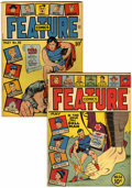 Golden Age (1938-1955):Miscellaneous, Feature Comics #56 and 88 Group (Quality, 1942-45) Condition: Average VG.... (Total: 2 Comic Books)