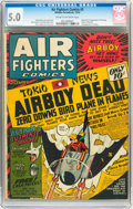 Golden Age (1938-1955):Adventure, Air Fighters Comics #3 (Hillman Fall, 1942) CGC VG/FN 5.0 Cream tooff-white pages....