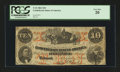 Confederate Notes:1861 Issues, T23 PF-1 $10 1861.. ...