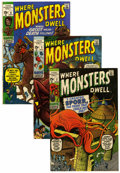 Bronze Age (1970-1979):Horror, Where Monsters Dwell Group (Marvel, 1970-75) Condition: AverageVG+....