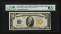 Small Size:World War II Emergency Notes, Fr. 2309 $10 1934A North Africa Silver Certificate. PMG Choice Uncirculated 63 EPQ.. ...