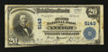 National Bank Notes:Wisconsin, Antigo, WI - $20 1902 Plain Back Fr. 658 The First NB Ch. # 5143. ...