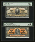 Canadian Currency: , BC-26c $50 1937. BC-27c $100 1937. ... (Total: 2 notes)