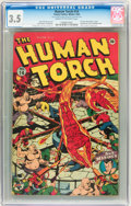 Golden Age (1938-1955):Superhero, The Human Torch #14 (Timely, 1943) CGC VG- 3.5 Cream to off-whitepages....