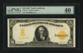 Large Size:Gold Certificates, Fr. 1172 $10 1907 Gold Certificate PMG Extremely Fine 40....
