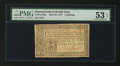 Colonial Notes:Pennsylvania, Pennsylvania April 10, 1777 3s PMG About Uncirculated 53 EPQ.. ...