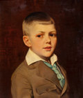 Mainstream Illustration, AMERICAN ARTIST (20th Century). Portrait of a Young Boy. Oilon canvas. 20 x 18 in.. Not signed. ...