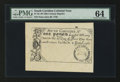 Colonial Notes:South Carolina, 19th Century Reprint South Carolina June 30, 1748 £1 PMG ChoiceUncirculated 64.. ...