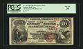 National Bank Notes:Virginia, Bristol, VA - $10 1882 Brown Back Fr. 484 The Dominion NB Ch. #(S)4477. ...