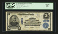 National Bank Notes:Virginia, Poquoson, VA - $5 1902 Plain Back Fr. 608 The First NB Ch. # 12092....